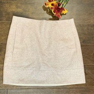 J. Crew Beige Wool Mini Skirt Sz 0 with Lining